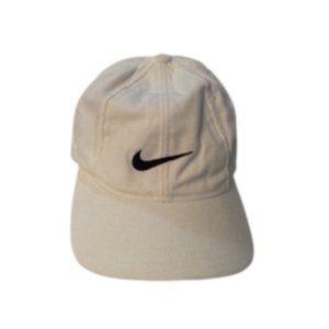 Nike Adjustable White Swoosh Hat/Cap